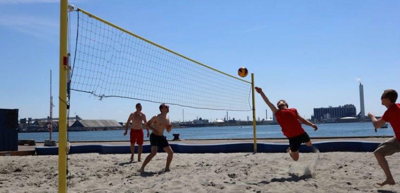 Beach Volley i Havneparken