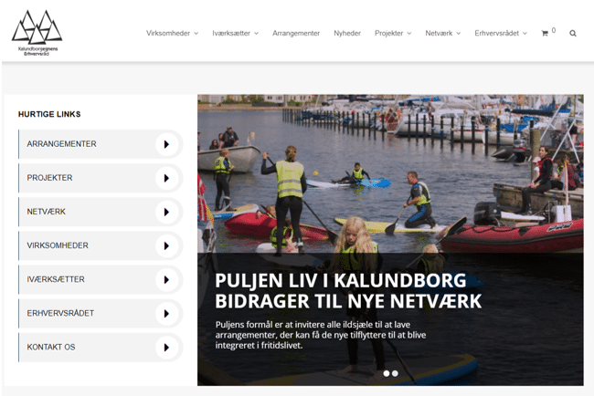 Ny hjemmeside forside