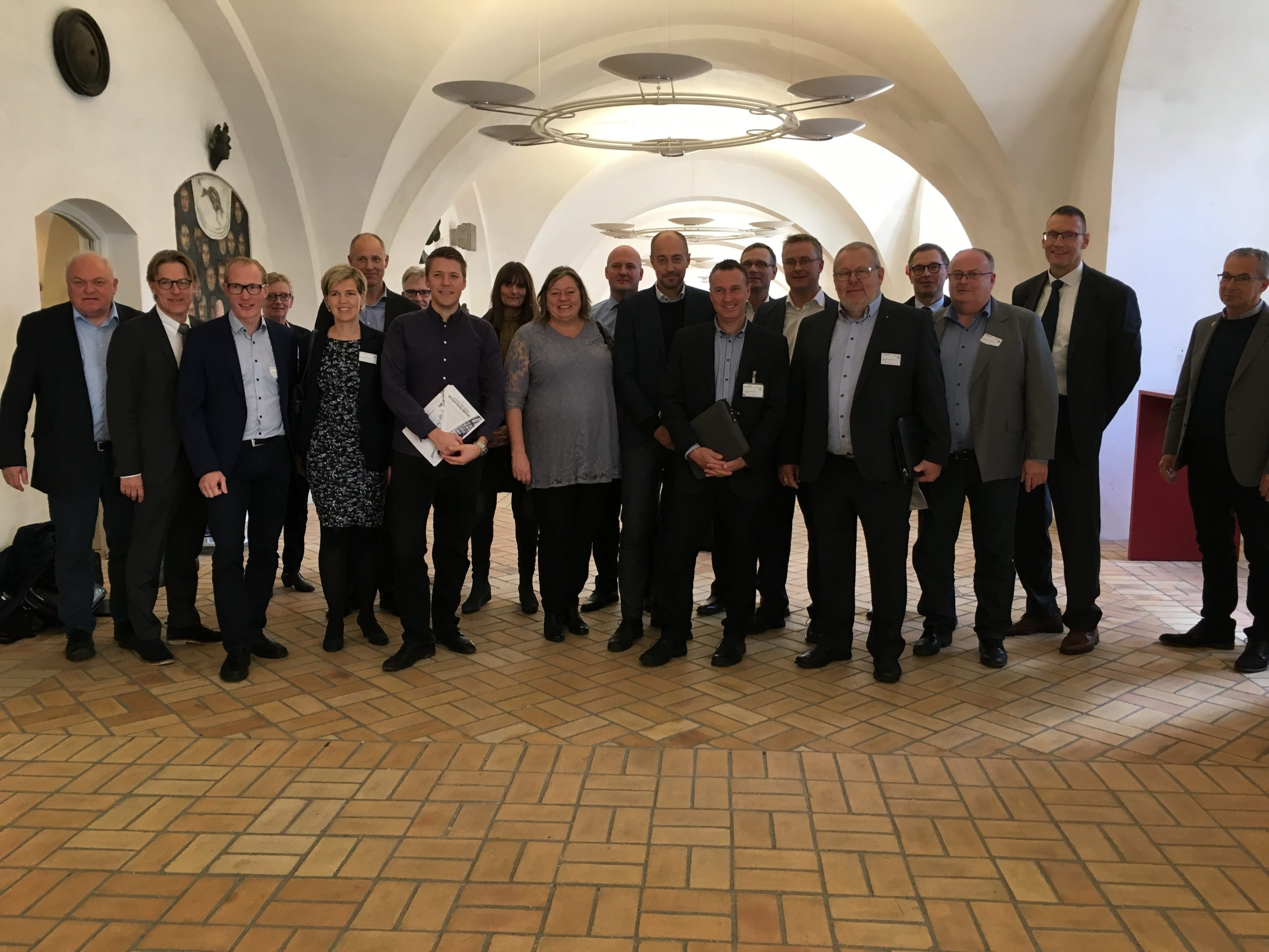 Politikere og erhvervsfolk på Christiansborg